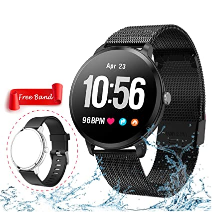 Smart Watch, Fitness Tracker with Heart Rate & Blood Pressure Monitor for Android & iOS, Waterproof Activity Tracker Watch with Sleep & Blood Oxygen ...