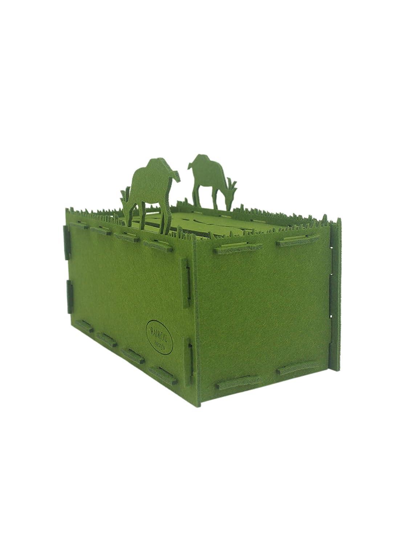 RAIKOU Bo/îte de mouchoirs en Feutre bo/îte de mouchoirs d/écorative Distributeur de mouchoirs Robuste dans des Formes int/éressantes Afrique//Vert