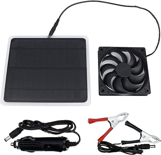 ShareTime Ventilador solar Mini ventilador para invernadero ...