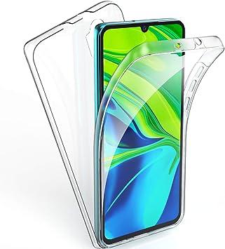 AROYI Funda Xiaomi Mi Note 10, Ultra Slim Doble Cara Carcasa Protector Transparente TPU Silicona + PC Dura Resistente Anti-Arañazos Protectora Case Cover para Xiaomi Mi Note 10: Amazon.es: Electrónica
