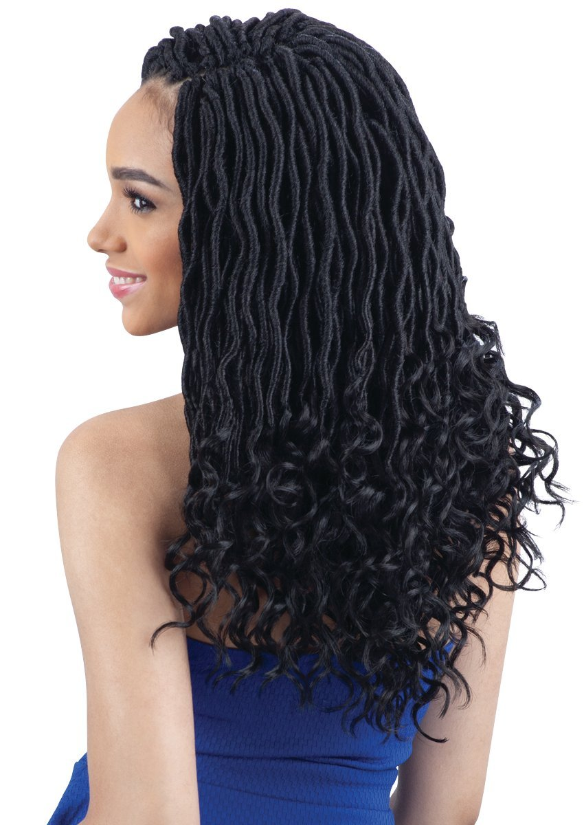 Amazoncom Goddess Loc 14 1b Off Black Freetress Synthetic