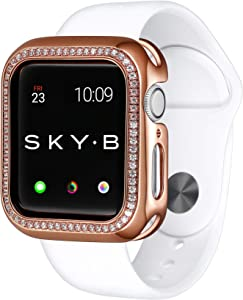 SKYB Halo Protective Jewelry Case for Apple Watch Series 1, 2, 3, 4, 5, 6, SE Devices - Rose Gold Color for 44mm Apple Watch