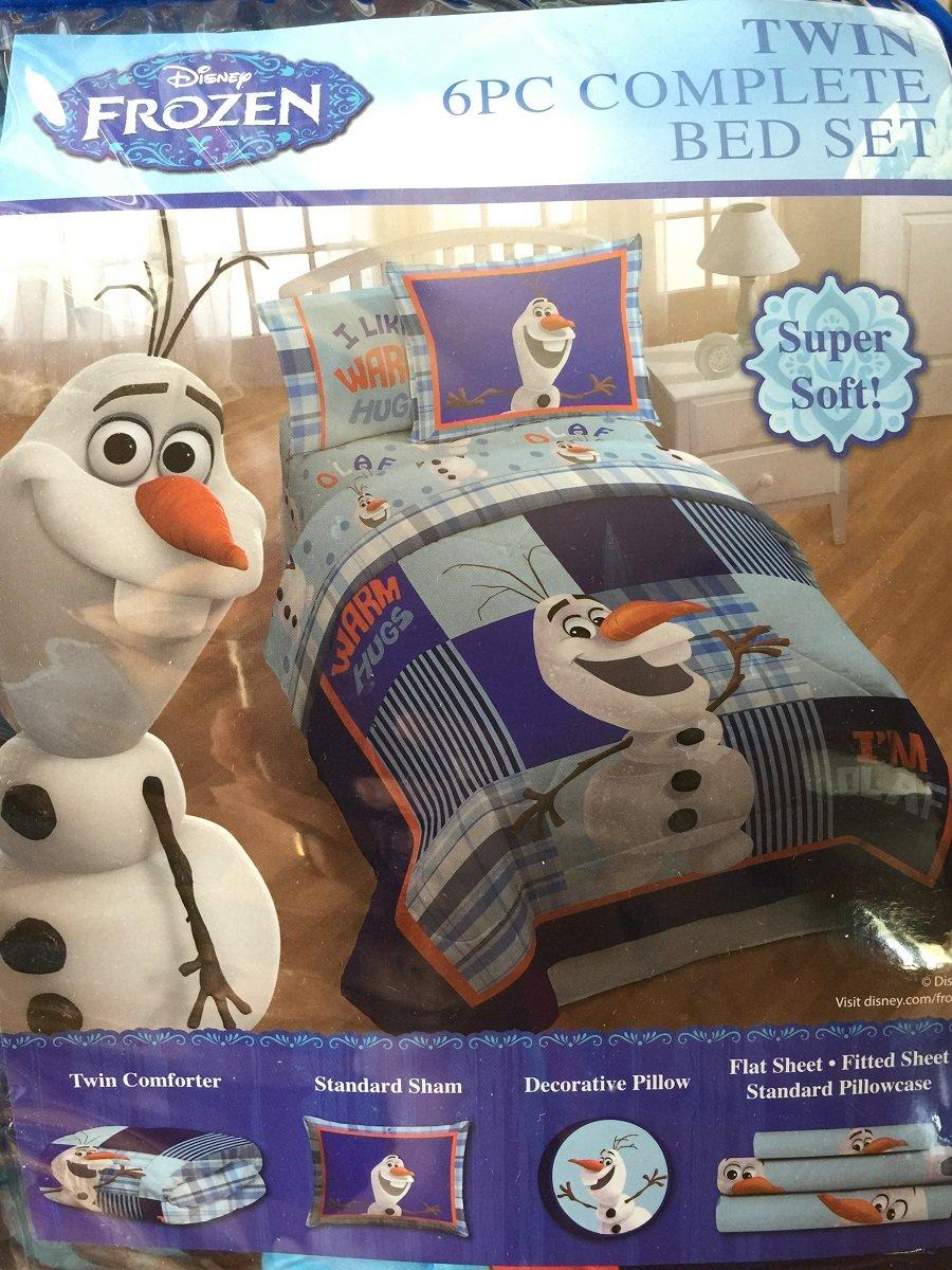 Disney Frozen I'm Olaf 6 Pc Complete Bedding Sheet Comforter Bed Set, Size: Twin