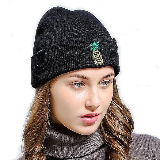 bd12967b3a1 King Star Fashion Embroidered Warm Winter Skullies Beanies Cap Ski Hat for  Women Black