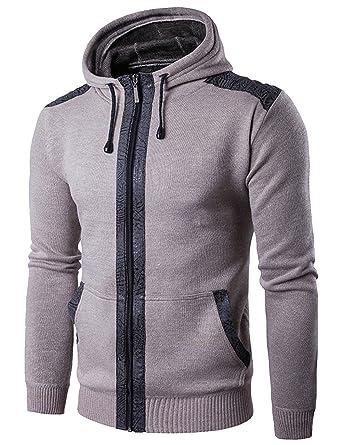 EMMA Homme d hiver Mode Cardigan Sweat à Capuche avec Veste Zippée Sport  Fitness  Amazon.fr  Vêtements et accessoires ca7849f00f00