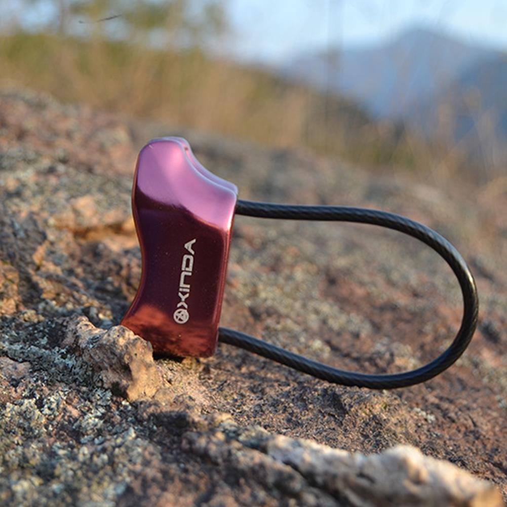Bluelover Xd8603 25Kn Rappel ATC Asegurador Device Aluminio Descensor Al Aire Libre Camping Senderismo Roca - Púrpura: Amazon.es: Hogar