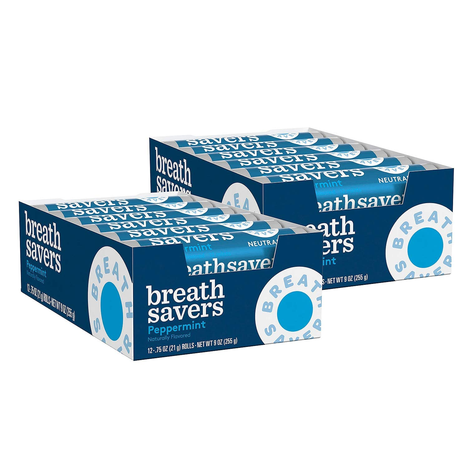 Breathsavers Peppermint Rolled mints, 12 per roll (Pack of 48)