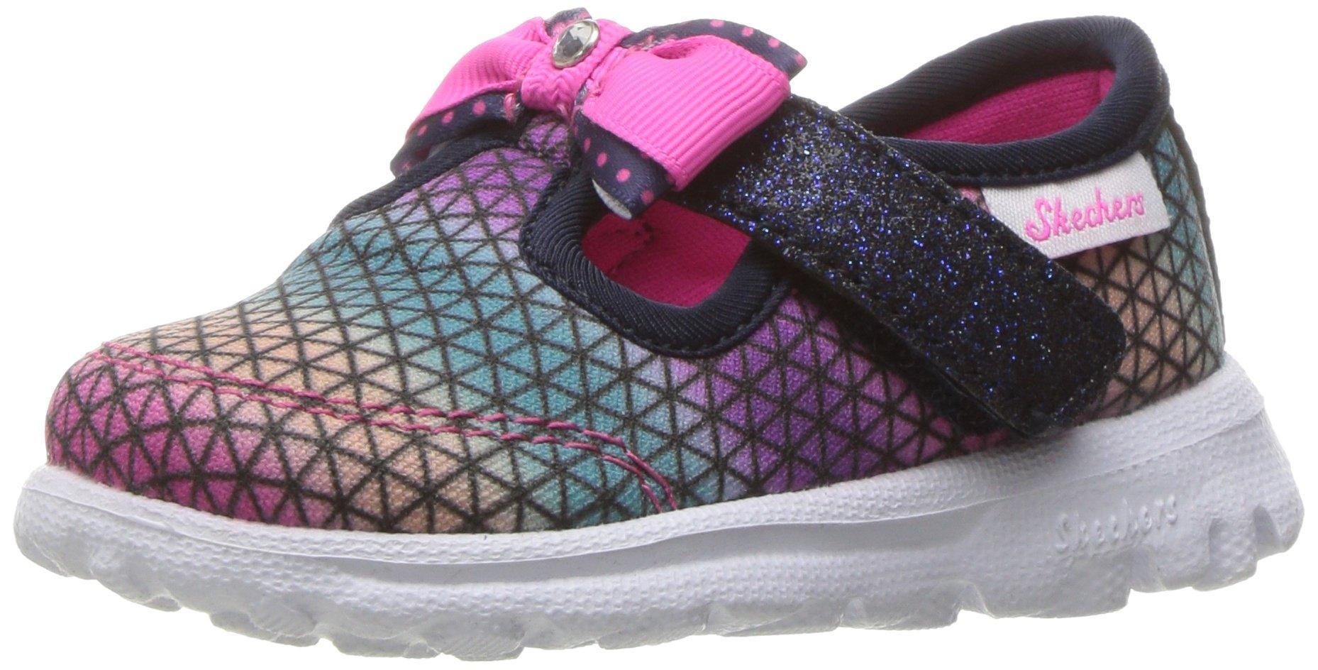 Skechers Kids Girls' Go Walk Cutie Craze Slip-On Sneaker,Navy/Multi,