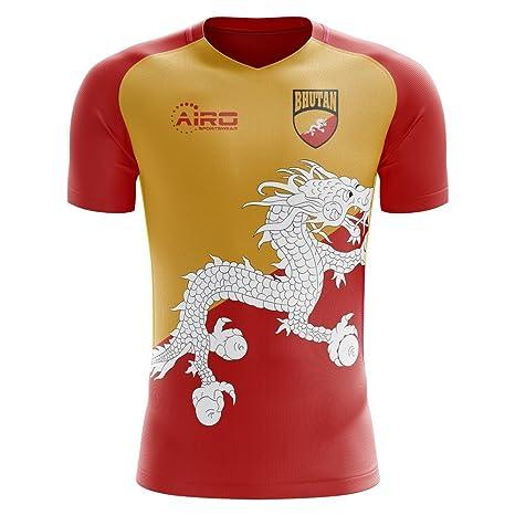 8522c77b3 Amazon.com : Airo Sportswear 2018-2019 Bhutan Home Concept Football Soccer T -Shirt Jersey (Kids) : Clothing