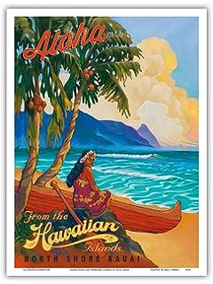 5654bc2801c89 Amazon.com: A SLICE IN TIME 1960s Kauai Hawaii Hawaiian Beach United ...