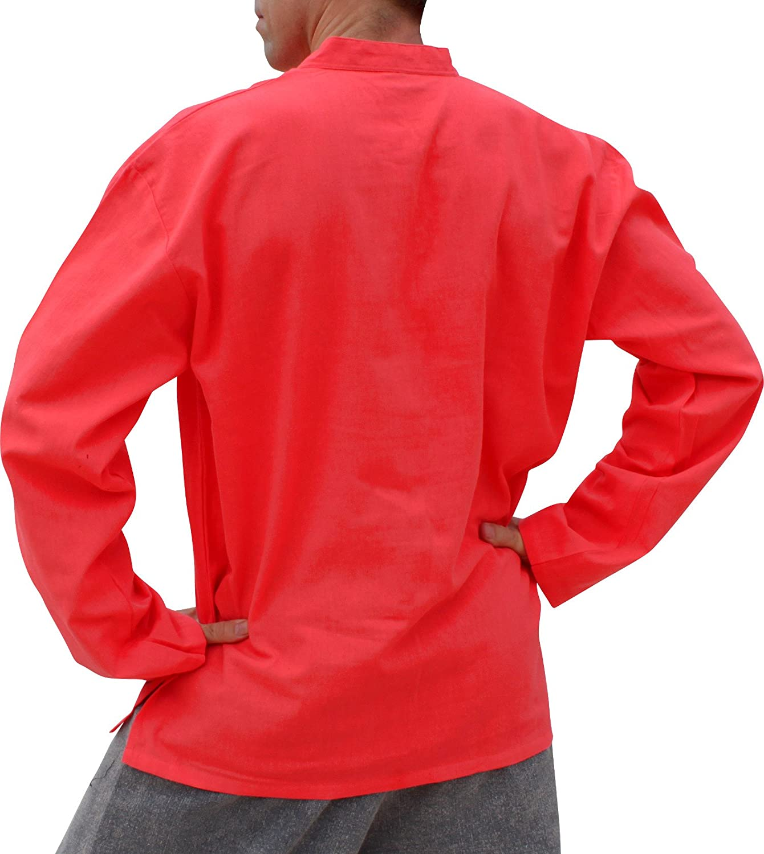 Raan Pah Muang SHIRT メンズ B07118SNV9 L|Radical Red Radical Red L