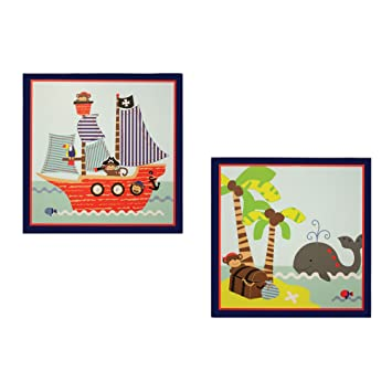 Bedtime Originals 2 Piece Wall Decor Treasure Island