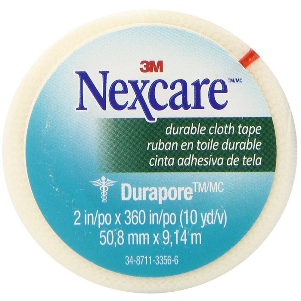 Nexcare(TM) Durapore(TM) Cloth First Aid Tape, 538-P1, 2 in x 10 yds, Rolled You are purchasing the Min order quantity which is 24 RLS by Nexcare