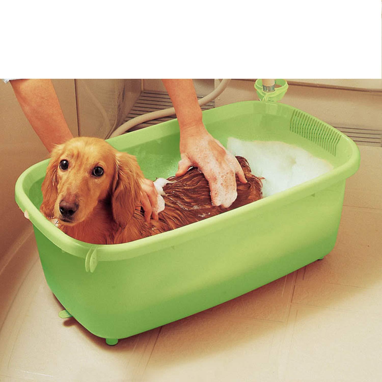 Green Small And Medium Cat And Dog Bathtub, Multi-function Pet Bath, Bathtub, Modeling Pool