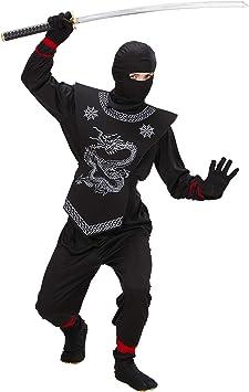 WIDMANN 74526 - Disfraz de ninja para niño (talla 128): Amazon.es ...
