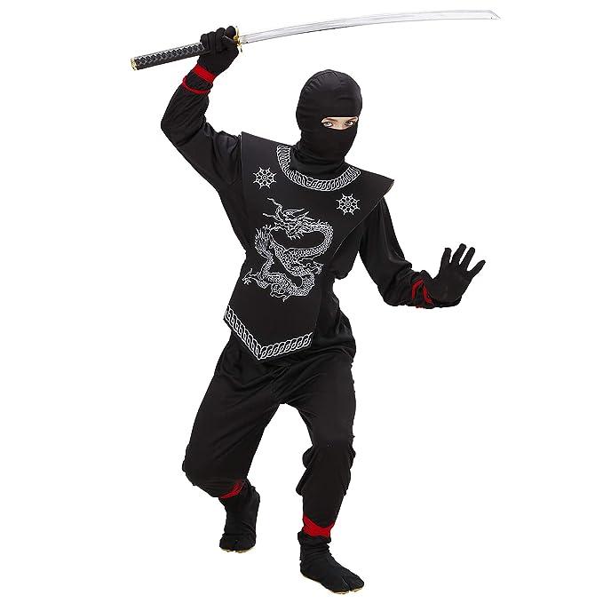 WIDMANN 74526 - Disfraz de ninja para niño (talla 128)
