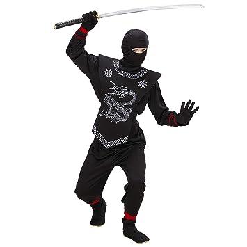 WIDMANN 74527 - Disfraz de ninja para niño (talla 140): Amazon.es ...