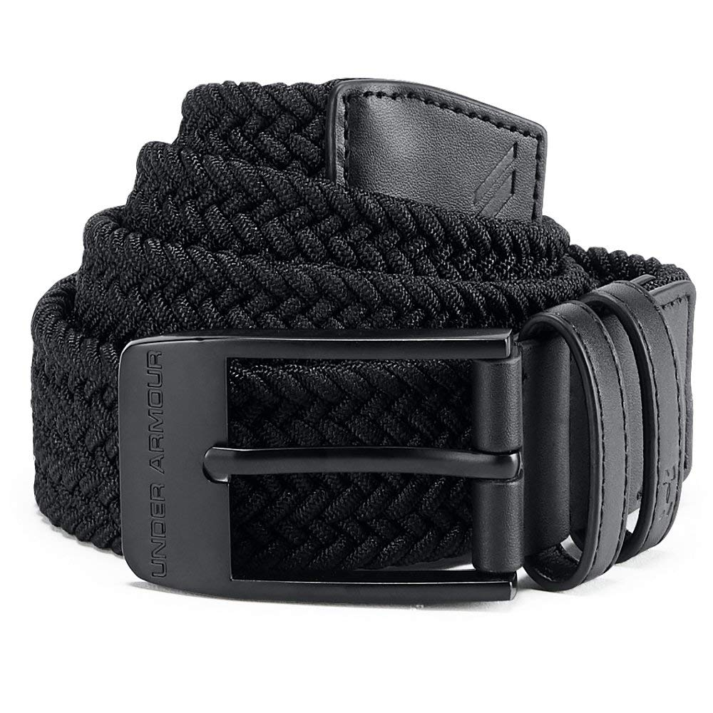 Under Armour Men's Braided Belt 2.0, Black (001)/Black, 42 by Under Armour