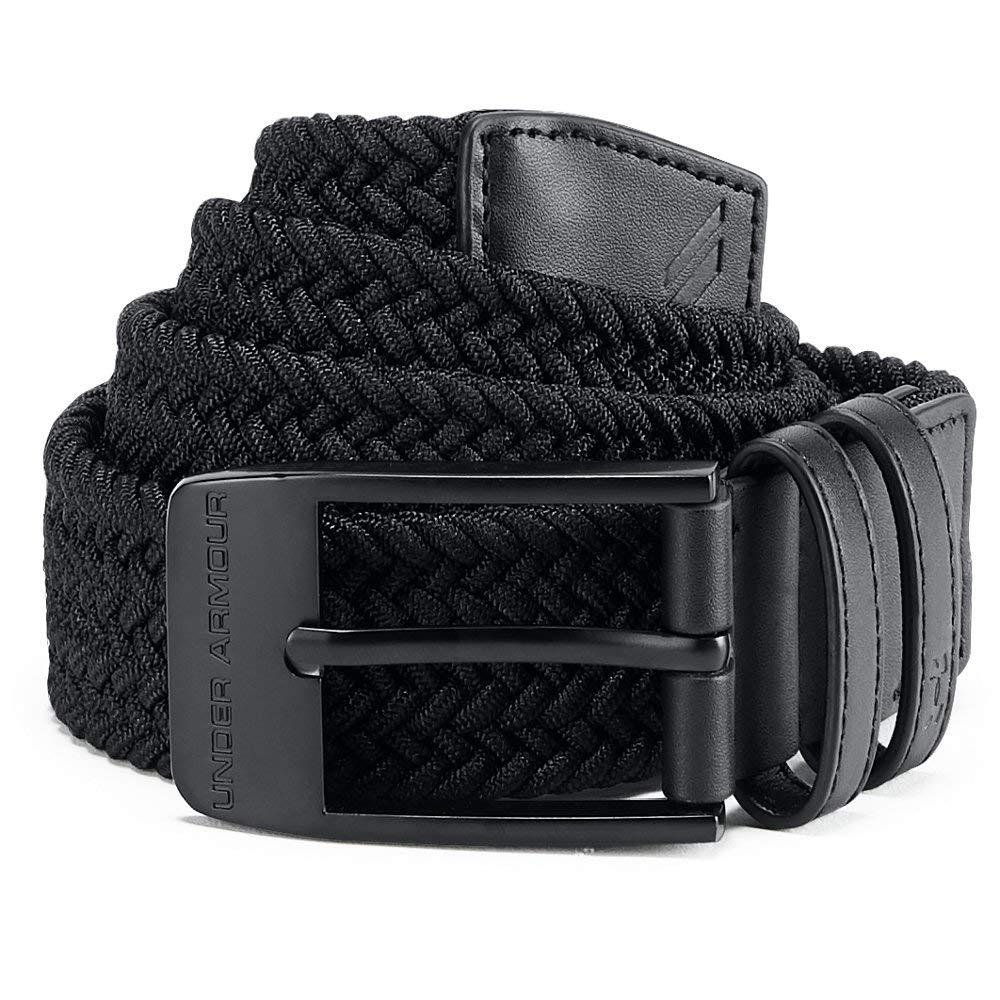 Under Armour Men's Braided Belt 2.0, Black (001)/Black, 30