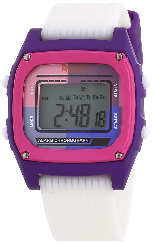 Roxy W220DR 76T WHP - Reloj digital de mujer de cuarzo con correa de plástico rosa (alarma, luz, cronómetro, cronómetro): Amazon.es: Relojes