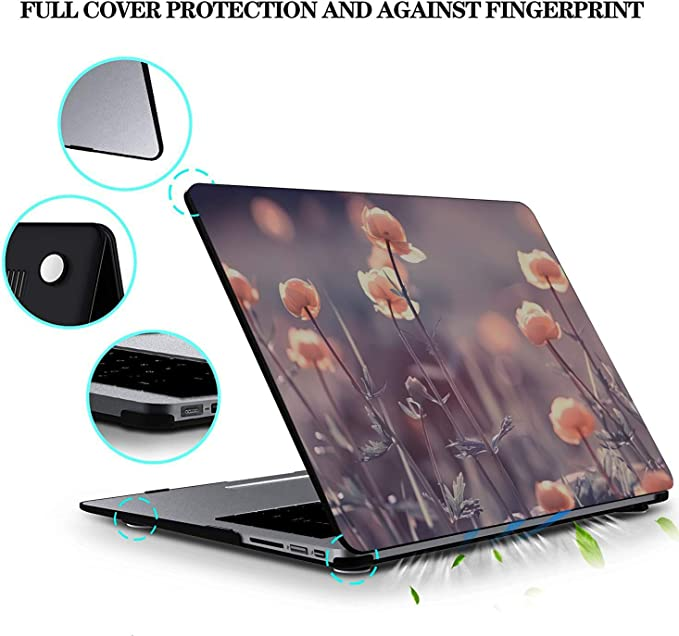 13 MacBook Pro Case Spring Colorful Beautiful Wild Flowers Plastic Hard Shell Compatible Mac Air 11 Pro 13 15 MacBook Pro Hard Cover Protection for MacBook 2016-2019 Version