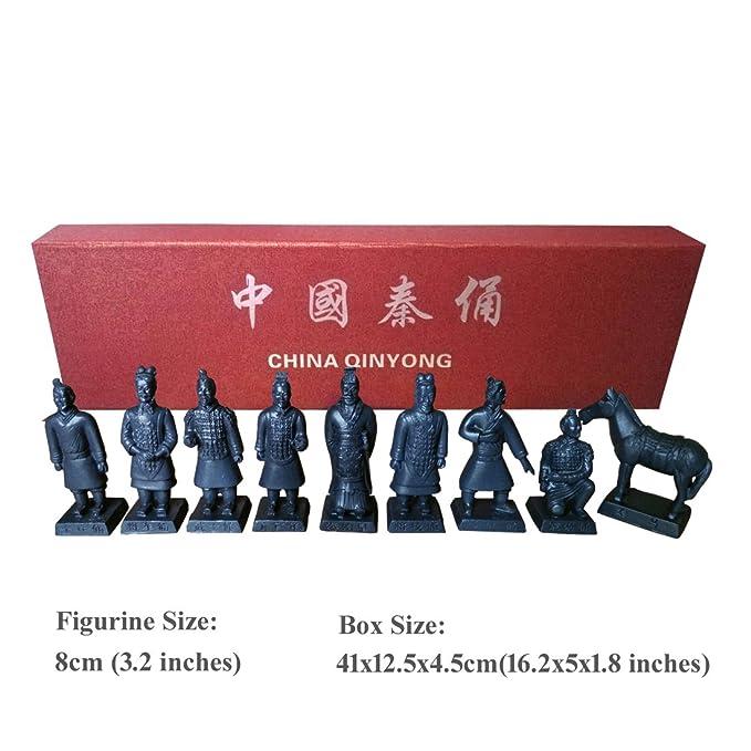 Romancemit Caja de regalo de terracota de resina, terracota, escultura de terracota para el hogar, expositor de mesa de Bonsai, presentación múltiple: ...