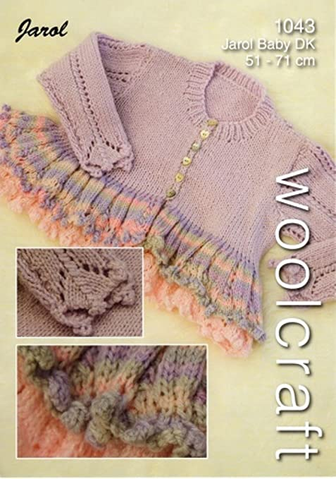 Woolcraft Branded Knitting Pattern For Babies Ruffle Cardigan 51