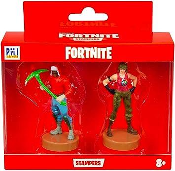 Fortnite - 631-3558. Pack de 2 Figuras Sellos. Modelo Aleatorio.: Amazon.es: Juguetes y juegos