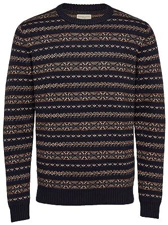 1556f3dbcf87c1 Selected Homme Monrad Crew Neck Sweater in Dark Sapphire M: Amazon.co.uk:  Clothing