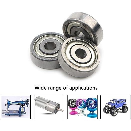 634ZZ Metal Double Shielded Ball Bearing Bearings 4*16*5 20 Pcs 4x16x5mm