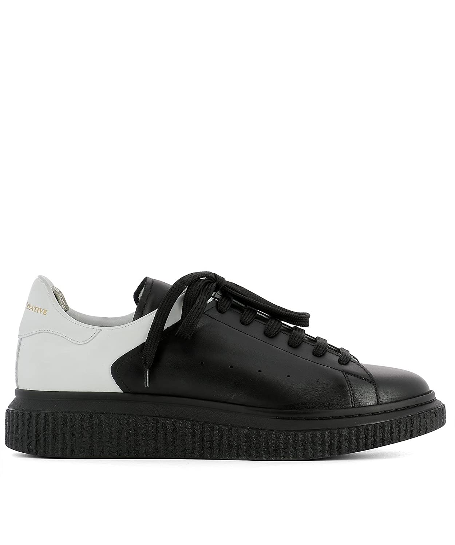 Officine Creative メンズ KRACE001DEVOMNEROBIANCA ブラック ラバー 運動靴 B07DXJ3G9R