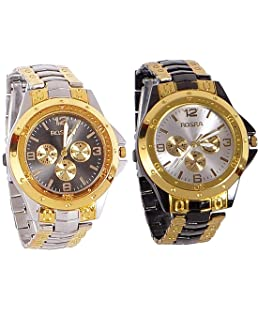 Rustet™ Analogue Multicolor Dial Men's Analogue Combo of 2 Watch - Combo-S.B.R.