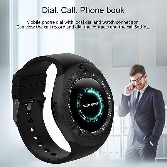 Bluetooth Smart Watch Reloj Inteligente Teléfono Inteligente Pantalla Táctil con Ranura para Tarjeta SIM/sedentario Recordatorio/Pedómetro para ...