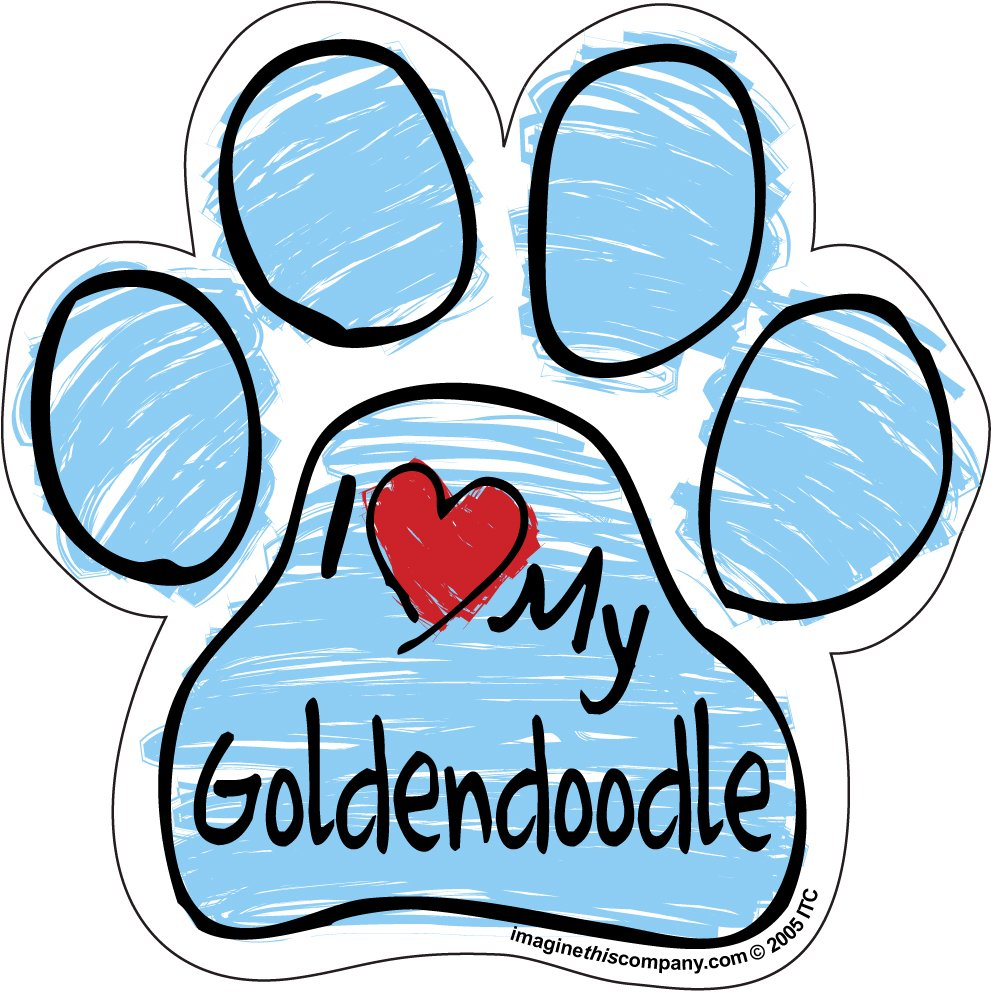 Imagine This Scribble Paw Magnet, Goldendoodle Imagine This Company P2093