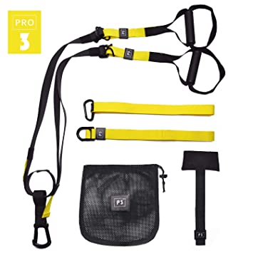 P3 Pro 4 O RLY Bodyweight Fitness Resistance Straps Trainer Complete Training System Kit for Travel and Working Out Indoors /& Outdoors Military Green