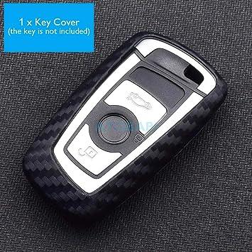 Remote Key Case Cover Fob For BMW 1 2 3 4 5 6 7 Series F10 F20 F30 Carbon Fiber