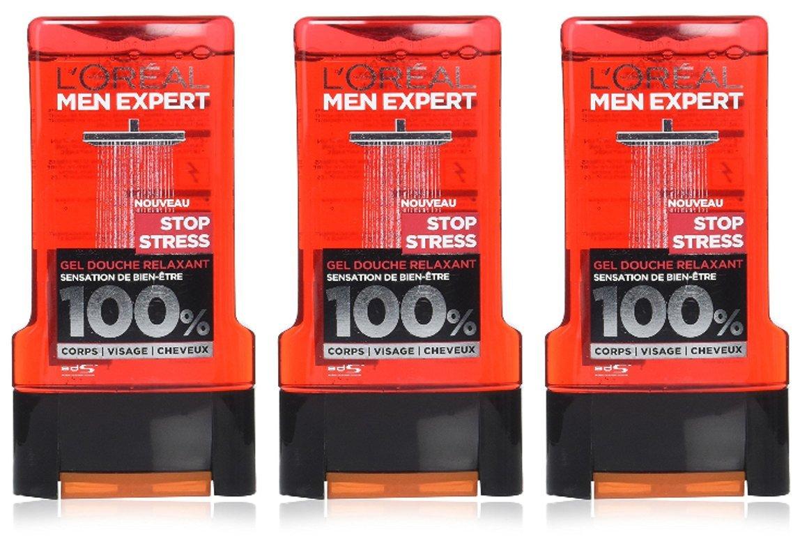 L'Oréal Men Expert Stop Stress Gel Douche 300 ML - Lot de 3 L' Oréal Men Expert A9531300
