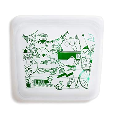 Stasher 100% Silicone Reusable Food Bag, Sandwich, Monsters