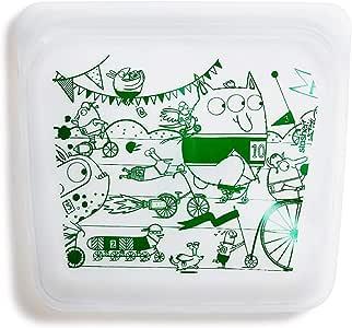 Stasher Reusable Silicone Food Bag, Sandwich Bag, Snack Bag, Storage Bag, Monsters