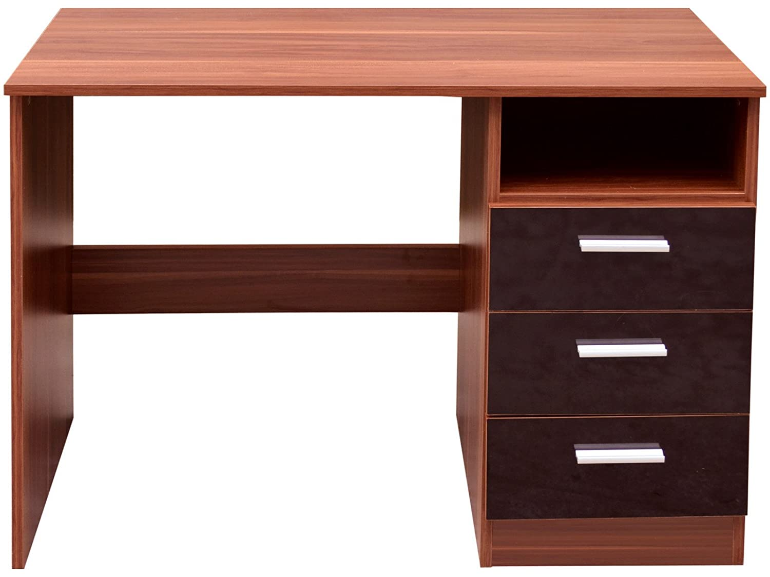 High Gloss Ottawa Caspian Black Walnut Dressing Table Only - Black gloss dressing table