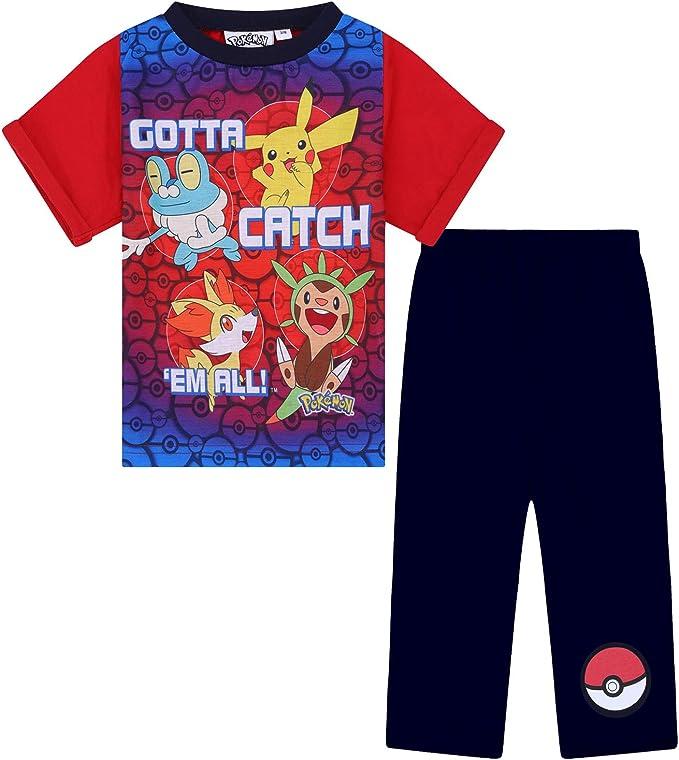 Boys BLACK Pokemon Catch /'em All Pikachu Ash Froakie Pyjamas 4 to 6 Years