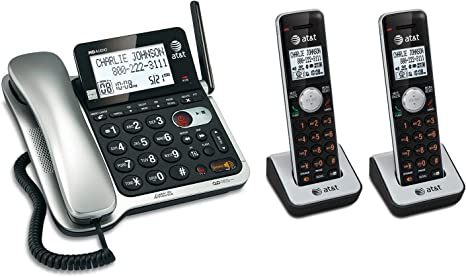 AT/&T Expandable Corded Cordless Phone w Answering System Caller ID Call Waiting