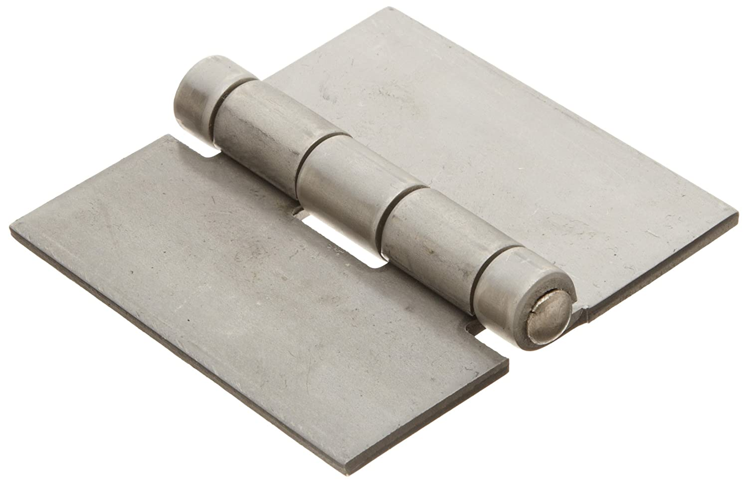 Stainless Steel 316 Surface Mount Butt Hinge without Hole, 2B Mill Finish, 0.120' Leaf Thickness, 3' Open Width, 1/4' Pin Diameter, 3' Long, Non-Removable Pin (Pack of 1) 0.120 Leaf Thickness 3 Open Width 1/4 Pin Diameter 3 Long Marlboro