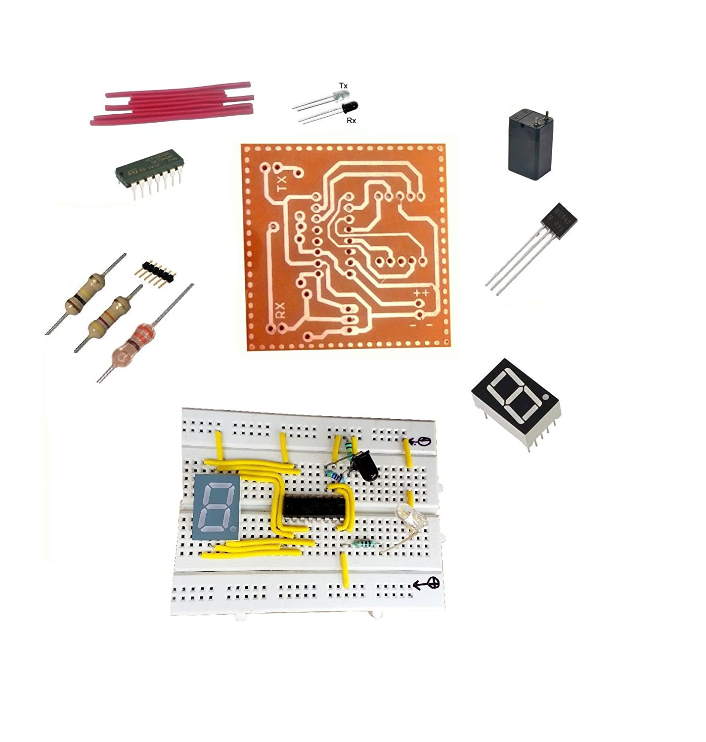 Global Traders Object Visitor Counter With Pcb Electronics Mini Volume Control Circuit Free Electronic Circuits 8085 Projects Project Industrial Scientific