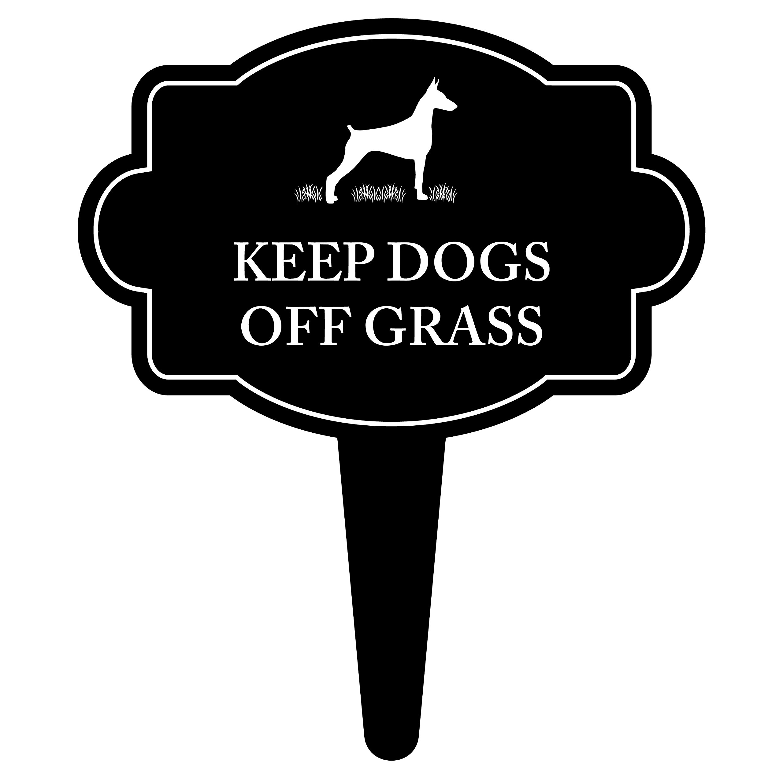iCandy Products Inc Keep Dogs Off Grass Sign Home Pet Warning Dog Lawn Sign 16x18 Inches - Aluminum