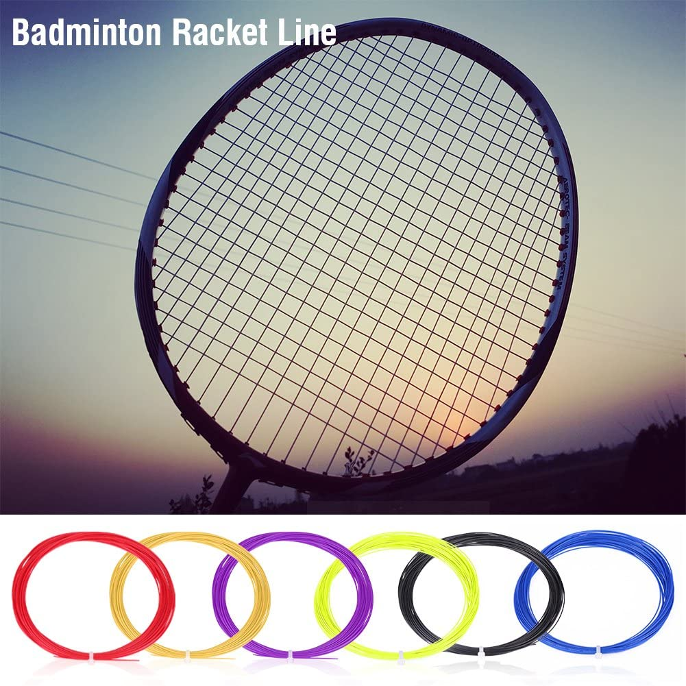 10 m in Nylon Resistente ad Alta flessibilit/à Tbest Set di Corde da Badminton 2 Pezzi Racchetta da Badminton Corde per Corde Accessori per Allenamento Sportivo