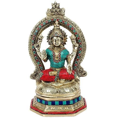 Statuestudio Brass Goodess of Wealth Lakshmi Statue
