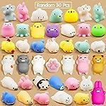 Calans Mochi Squishy Toys, 30 Pcs Mini Squishy Party Favors for
