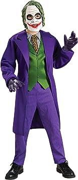 Rubies - Disfraz oficial deluxe de Joker para niños – talla S: Amazon ...