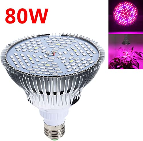 Grow Light – BANGWEIER 80W E27 Full Spectrum LED Plant Grow Lights Bulb Veg Hydroponic Lamps
